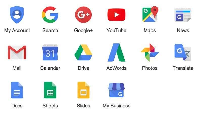 les nouveaux pictos de google