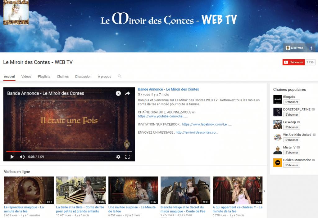 chaîne youtube optimisation le miroir des contes