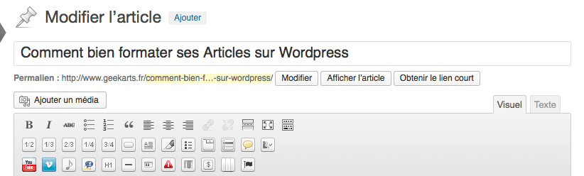 formater ses Articles