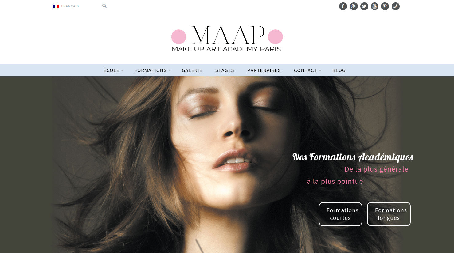 site internet ecole de maquillage pour make up artist