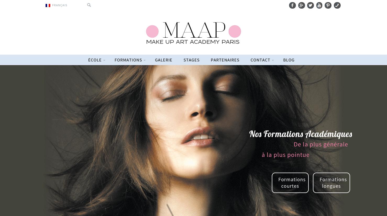 site internet ecole de maquillage pour make up artist