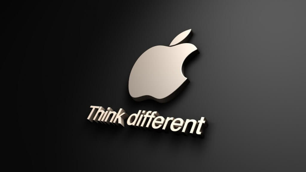logo apple logo 3d think different