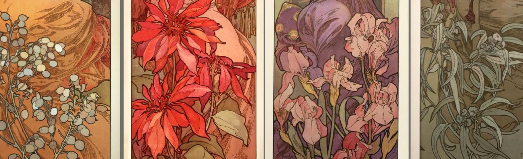photographe redaction correction texte Alfons Mucha Vieille pub Affiche française fleur
