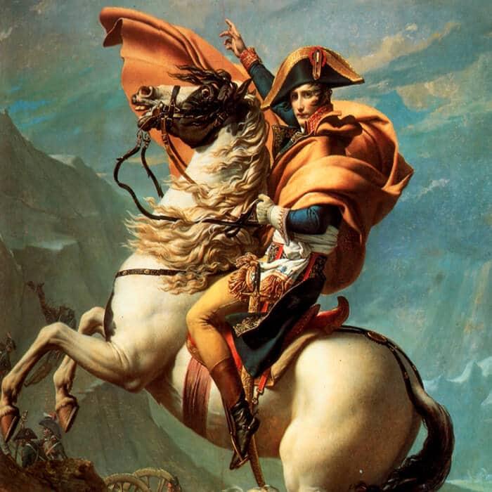 stratégie tactique web frise bonaparte napoleon à cheval col-saint-bernard