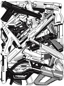 LIGHT-GUNS Malgorn art geek