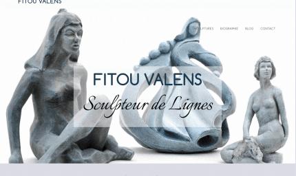 site web pour artiste fitou valens créée par geekarts
