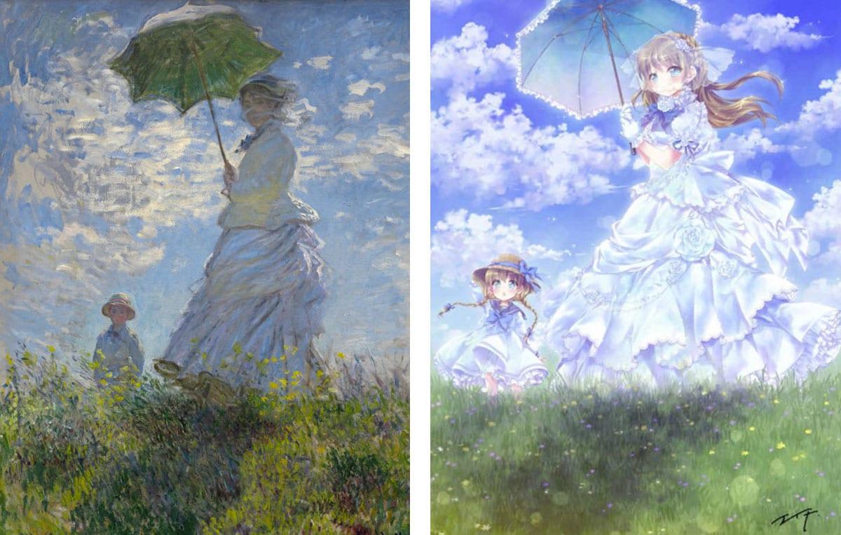 promenade-monet-version-manga