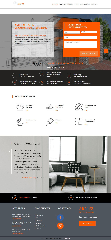 ARC42 – Aménagement Rénovation & Création-site vitrine créé par geekarts web agency