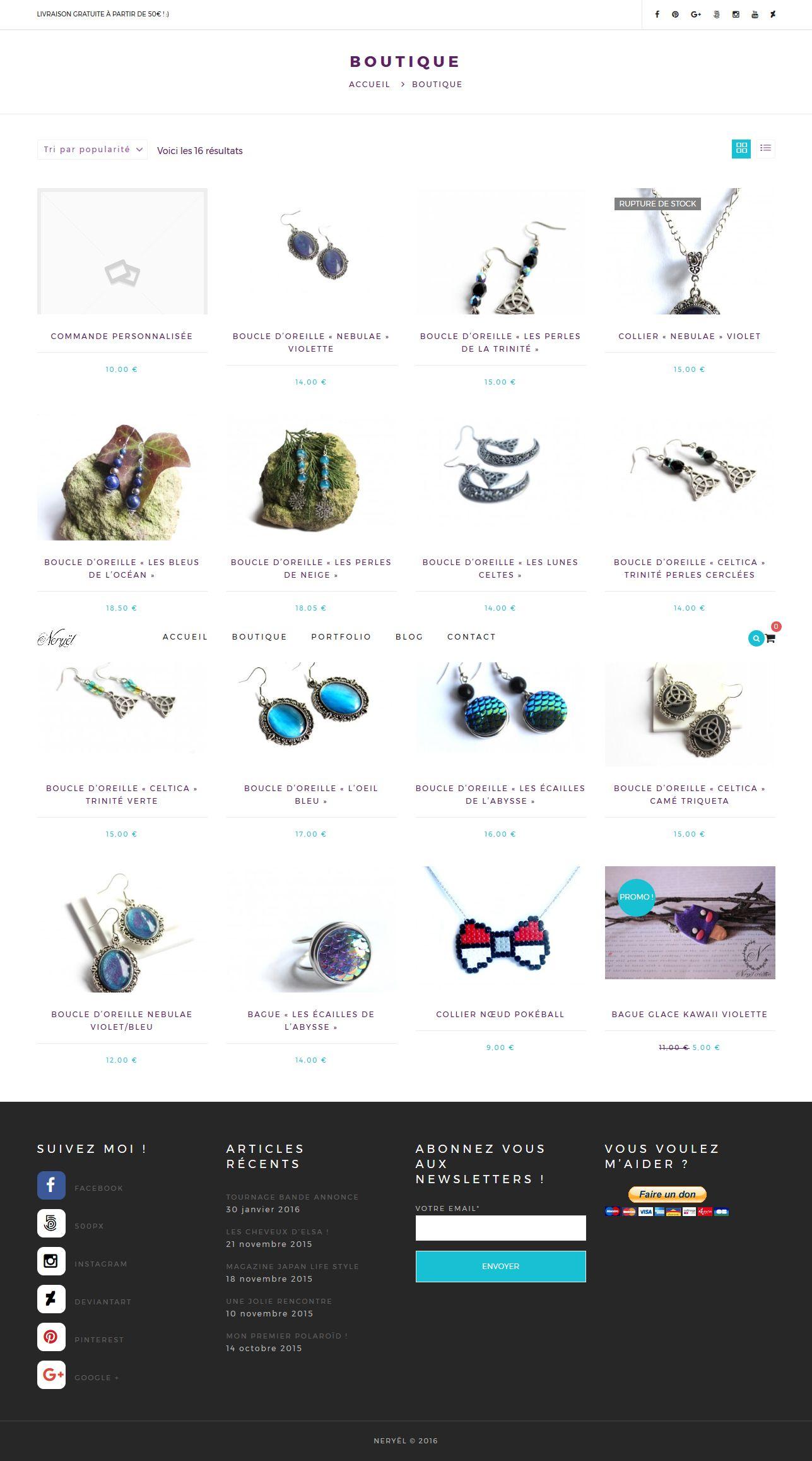 neryel mannequin modele creatrice de bijou site commerce concu par geekarts3